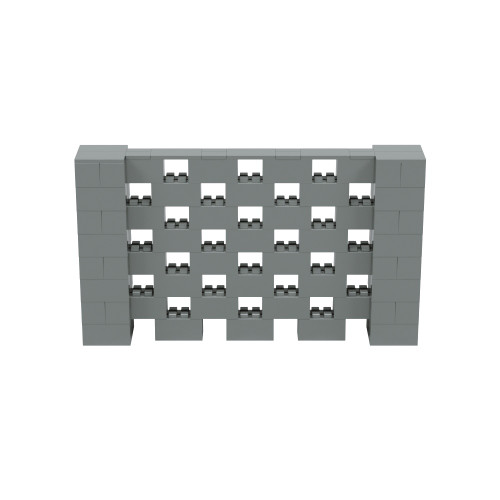7' x 4' Silver Open Stagger Block Wall Kit