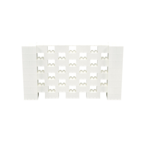 7' x 4' Translucent Open Stagger Block Wall Kit