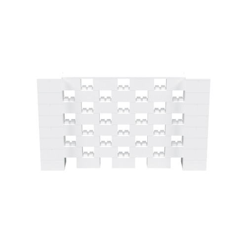 7' x 4' White Open Stagger Block Wall Kit