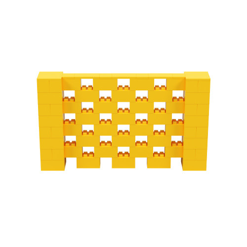 7' x 4' Yellow Open Stagger Block Wall Kit