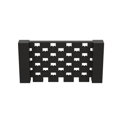 8' x 4' Black Open Stagger Block Wall Kit