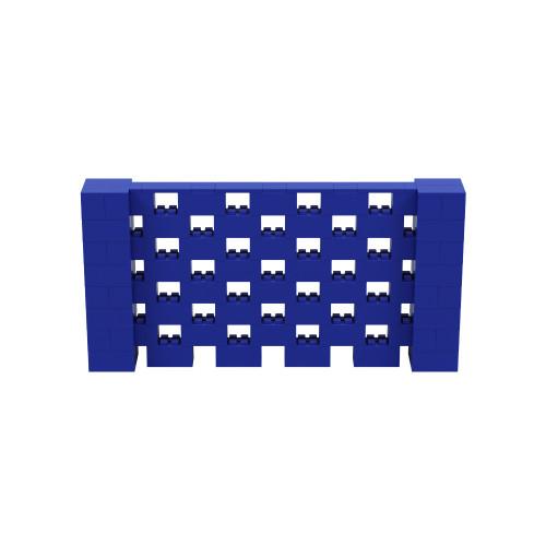 8' x 4' Blue Open Stagger Block Wall Kit