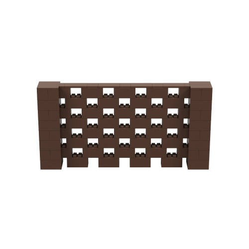 8' x 4' Brown Open Stagger Block Wall Kit