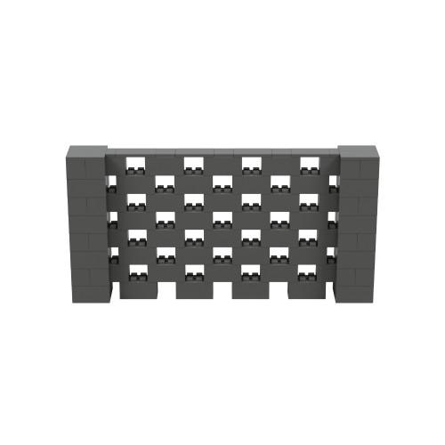 8' x 4' Dark Gray Open Stagger Block Wall Kit