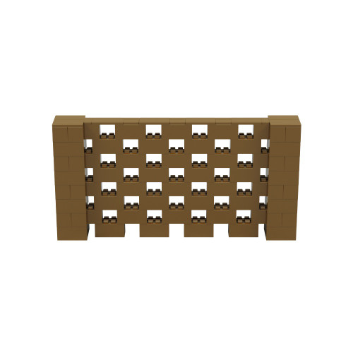 8' x 4' Gold Open Stagger Block Wall Kit