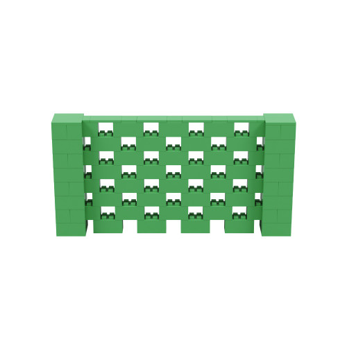 8' x 4' Green Open Stagger Block Wall Kit