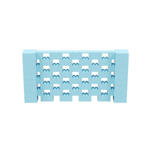 8' x 4' Light Blue Open Stagger Block Wall Kit