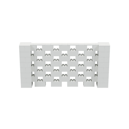 8' x 4' Light Gray Open Stagger Block Wall Kit