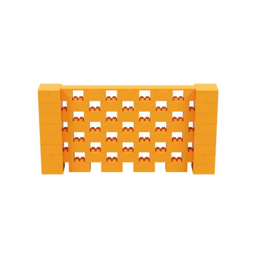 8' x 4' Orange Open Stagger Block Wall Kit