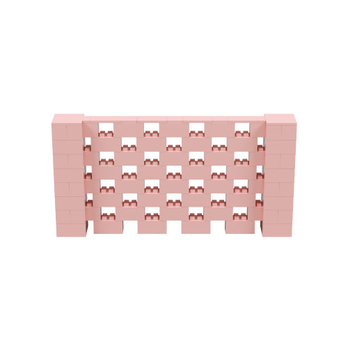 8' x 4' Pink Open Stagger Block Wall Kit