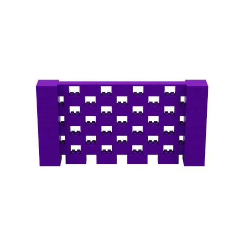 8' x 4' Purple Open Stagger Block Wall Kit