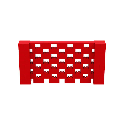 8' x 4' Red Open Stagger Block Wall Kit