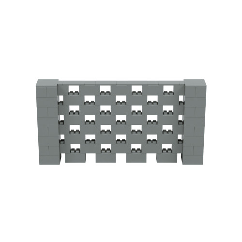 8' x 4' Silver Open Stagger Block Wall Kit