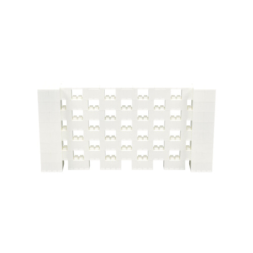 8' x 4' Translucent Open Stagger Block Wall Kit