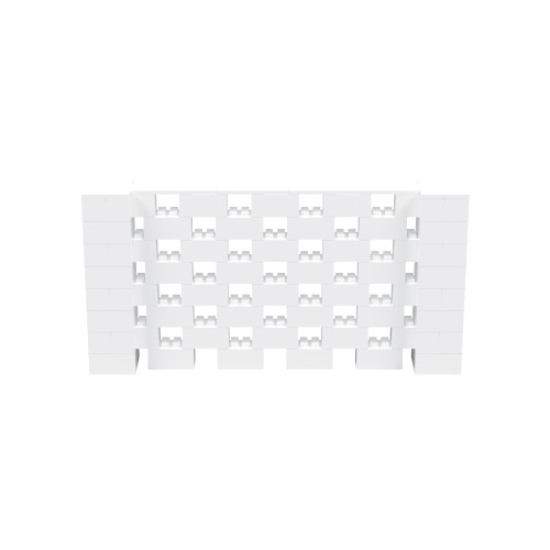 8' x 4' White Open Stagger Block Wall Kit