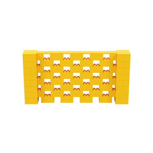 8' x 4' Yellow Open Stagger Block Wall Kit
