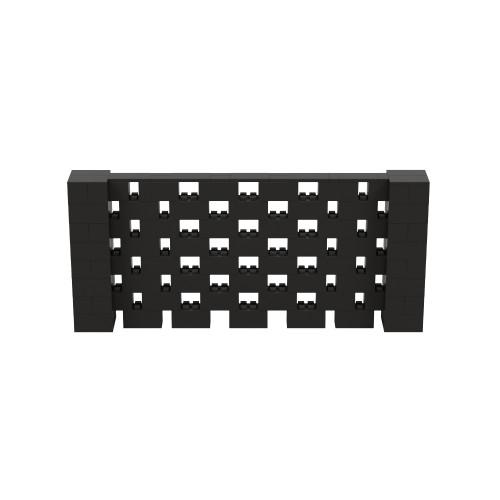 9' x 4' Black Open Stagger Block Wall Kit