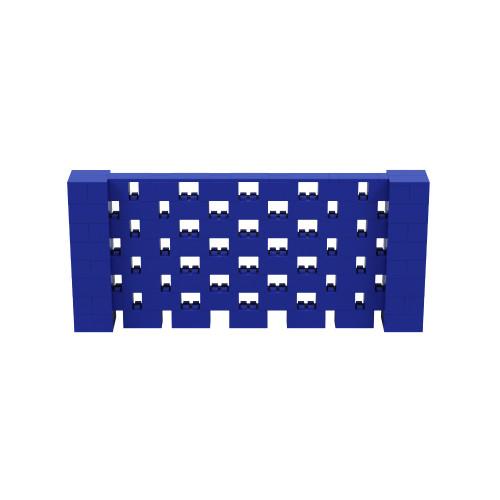 9' x 4' Blue Open Stagger Block Wall Kit