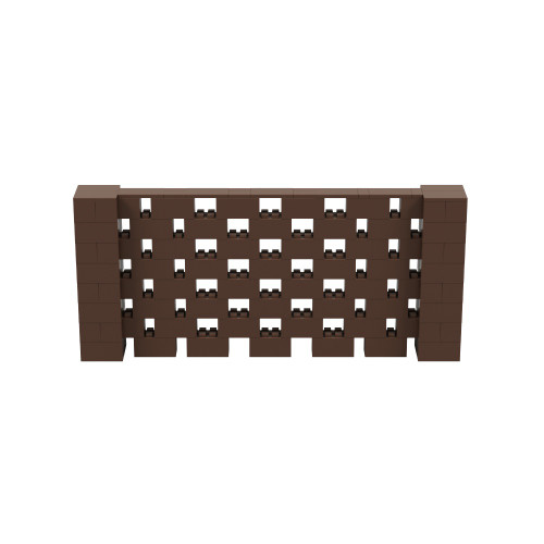 9' x 4' Brown Open Stagger Block Wall Kit