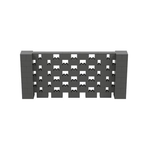 9' x 4' Dark Gray Open Stagger Block Wall Kit