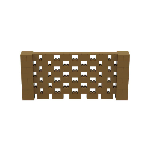 9' x 4' Gold Open Stagger Block Wall Kit