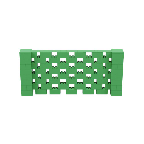 9' x 4' Green Open Stagger Block Wall Kit