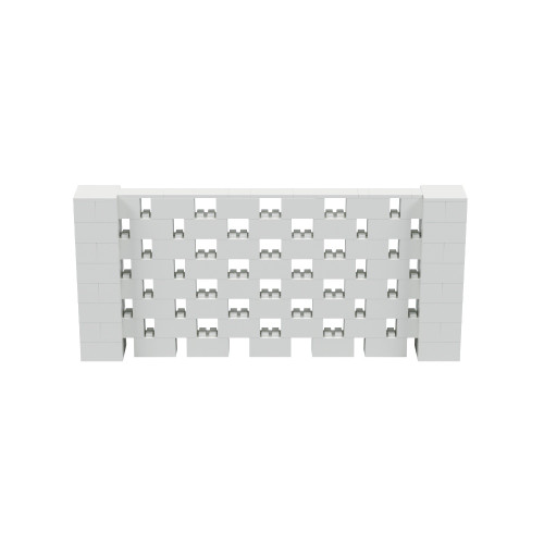 9' x 4' Light Gray Open Stagger Block Wall Kit