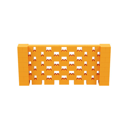 9' x 4' Orange Open Stagger Block Wall Kit