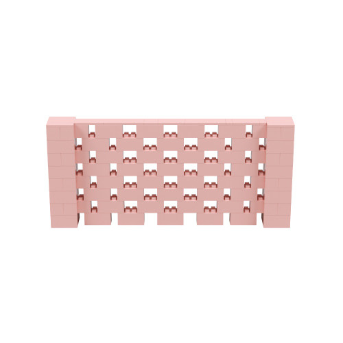 9' x 4' Pink Open Stagger Block Wall Kit