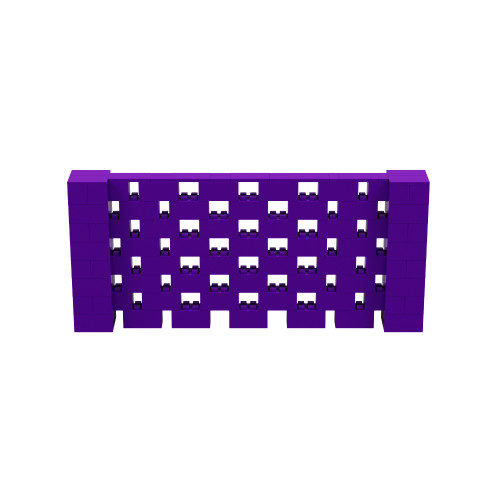 9' x 4' Purple Open Stagger Block Wall Kit