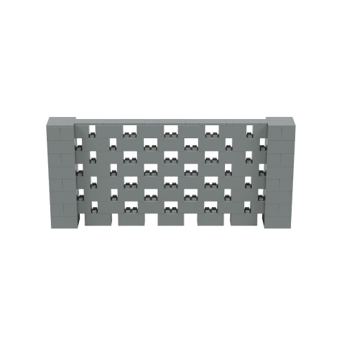 9' x 4' Silver Open Stagger Block Wall Kit