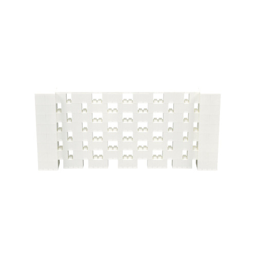 9' x 4' Translucent Open Stagger Block Wall Kit