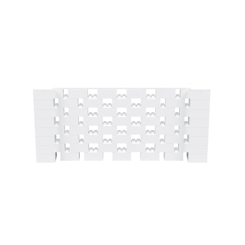 9' x 4' White Open Stagger Block Wall Kit