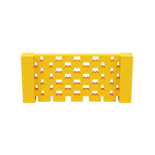 9' x 4' Yellow Open Stagger Block Wall Kit