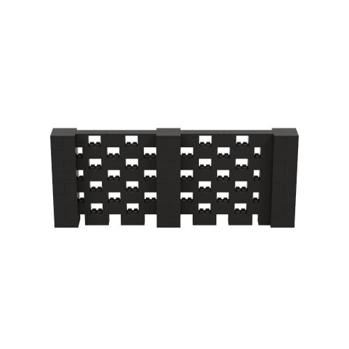 10' x 4' Black Open Stagger Block Wall Kit