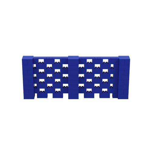 10' x 4' Blue Open Stagger Block Wall Kit