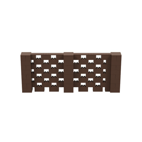 10' x 4' Brown Open Stagger Block Wall Kit