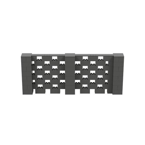 10' x 4' Dark Gray Open Stagger Block Wall Kit