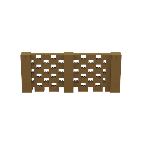 10' x 4' Gold Open Stagger Block Wall Kit