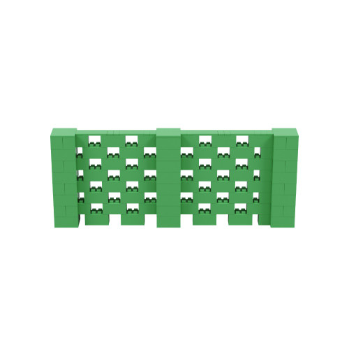 10' x 4' Green Open Stagger Block Wall Kit