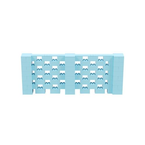 10' x 4' Light Blue Open Stagger Block Wall Kit