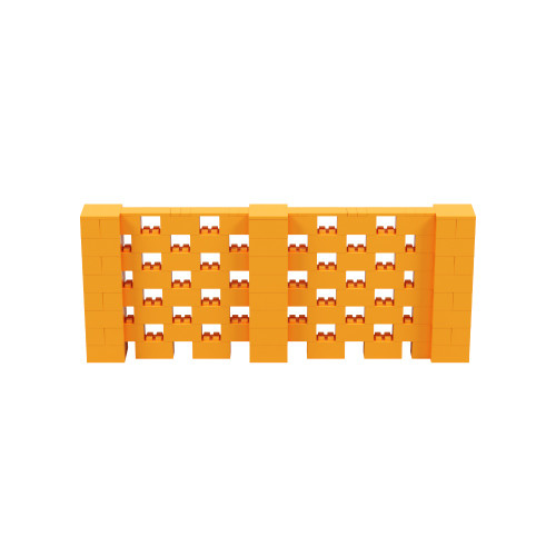10' x 4' Orange Open Stagger Block Wall Kit