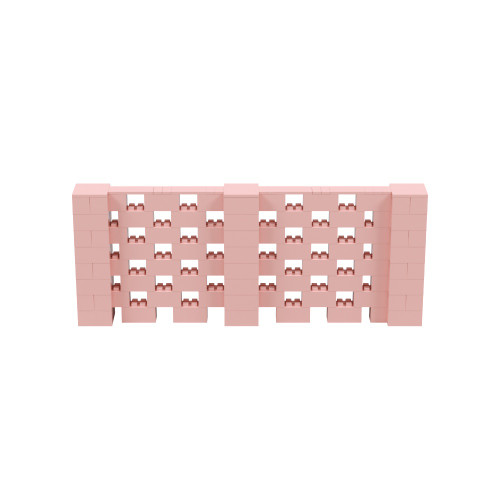10' x 4' Pink Open Stagger Block Wall Kit
