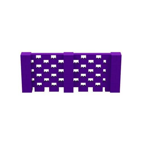 10' x 4' Purple Open Stagger Block Wall Kit