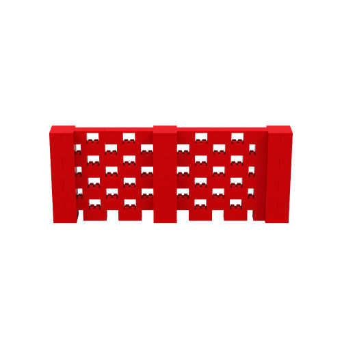 10' x 4' Red Open Stagger Block Wall Kit