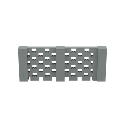 10' x 4' Silver Open Stagger Block Wall Kit
