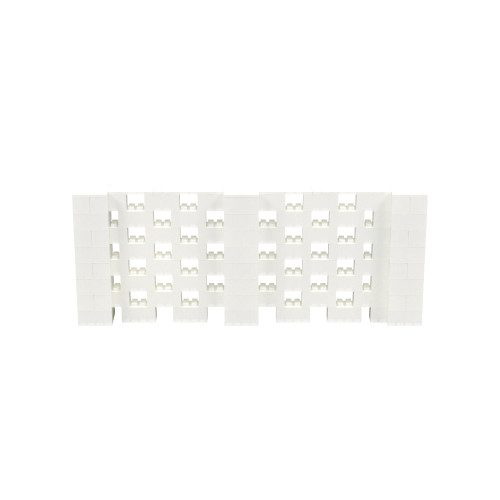 10' x 4' Translucent Open Stagger Block Wall Kit