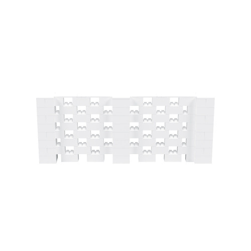 10' x 4' White Open Stagger Block Wall Kit