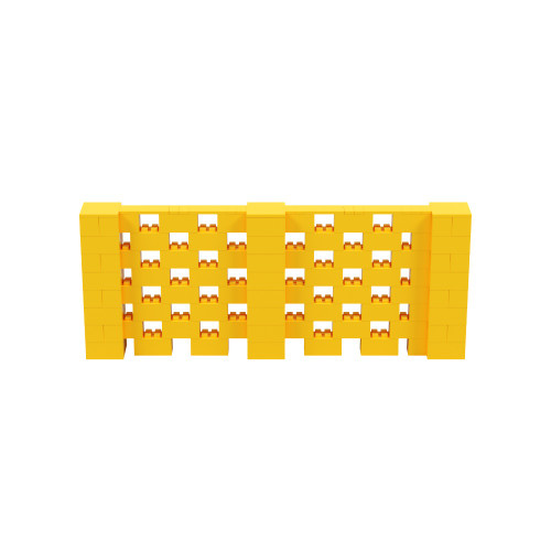 10' x 4' Yellow Open Stagger Block Wall Kit