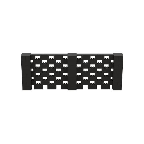 11' x 4' Black Open Stagger Block Wall Kit